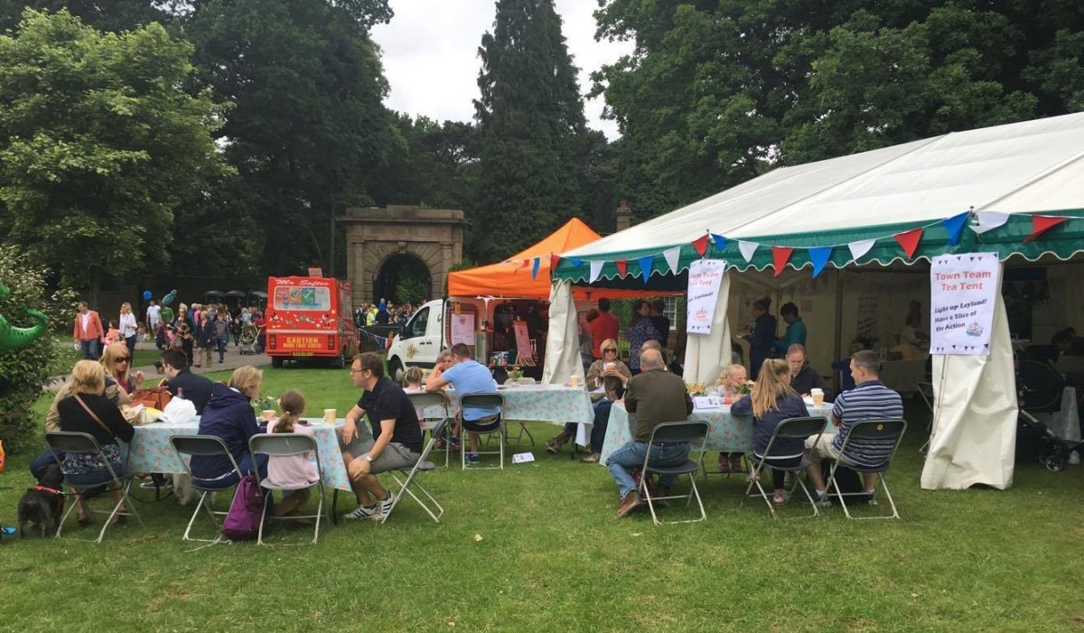 Food tents at Leyland Festival