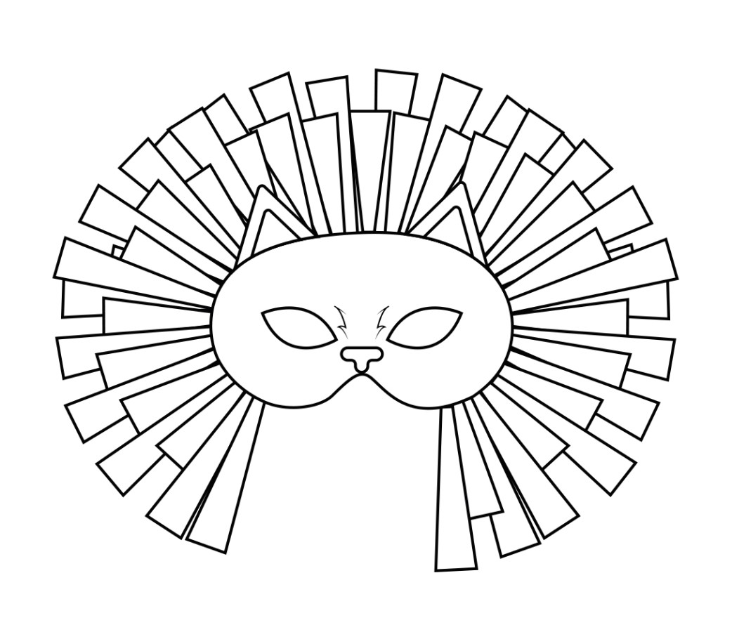 Complete lion mask example