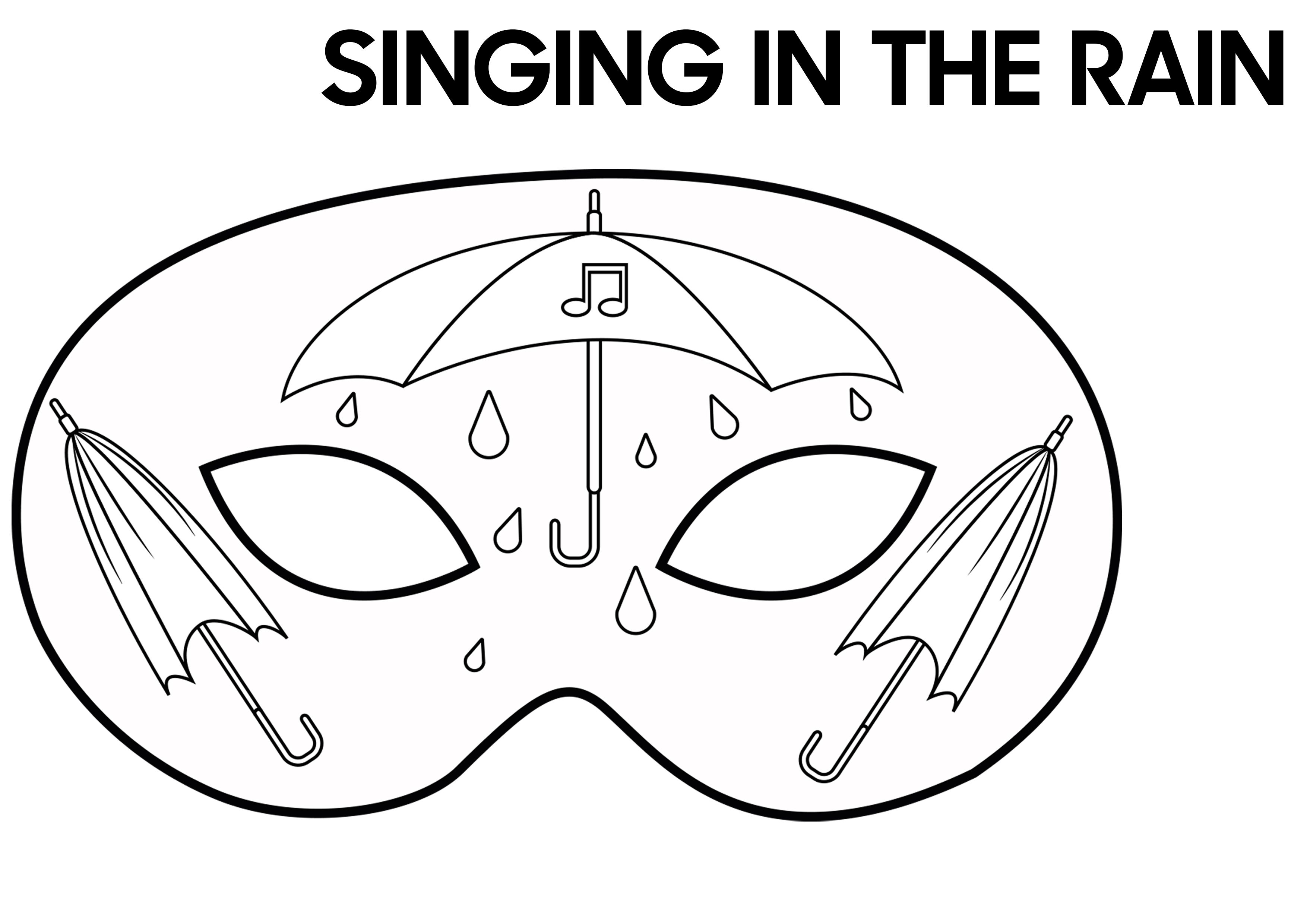 SINGING-IN-THE-RAIN inspired mask