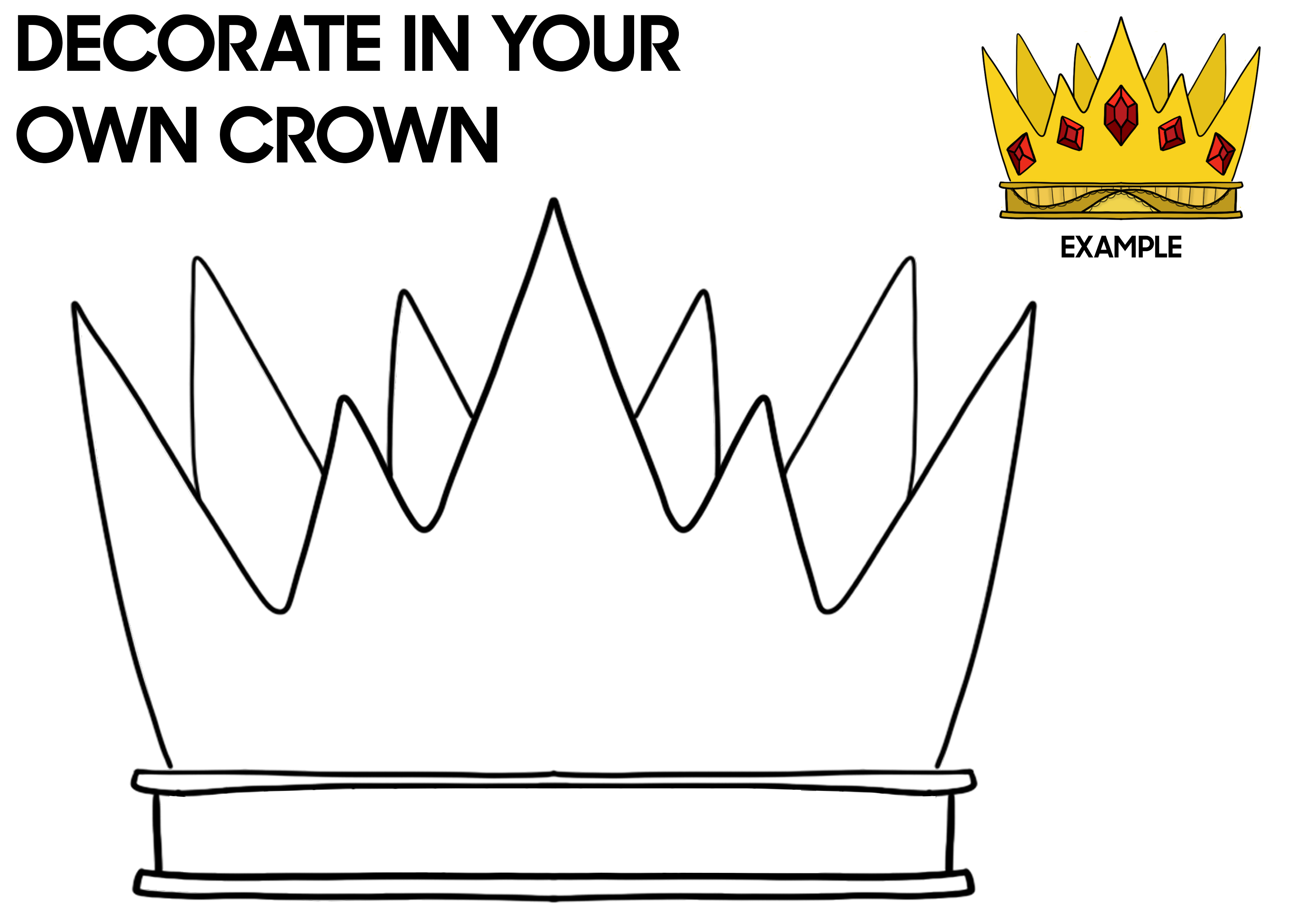 Decorate your own festival crown