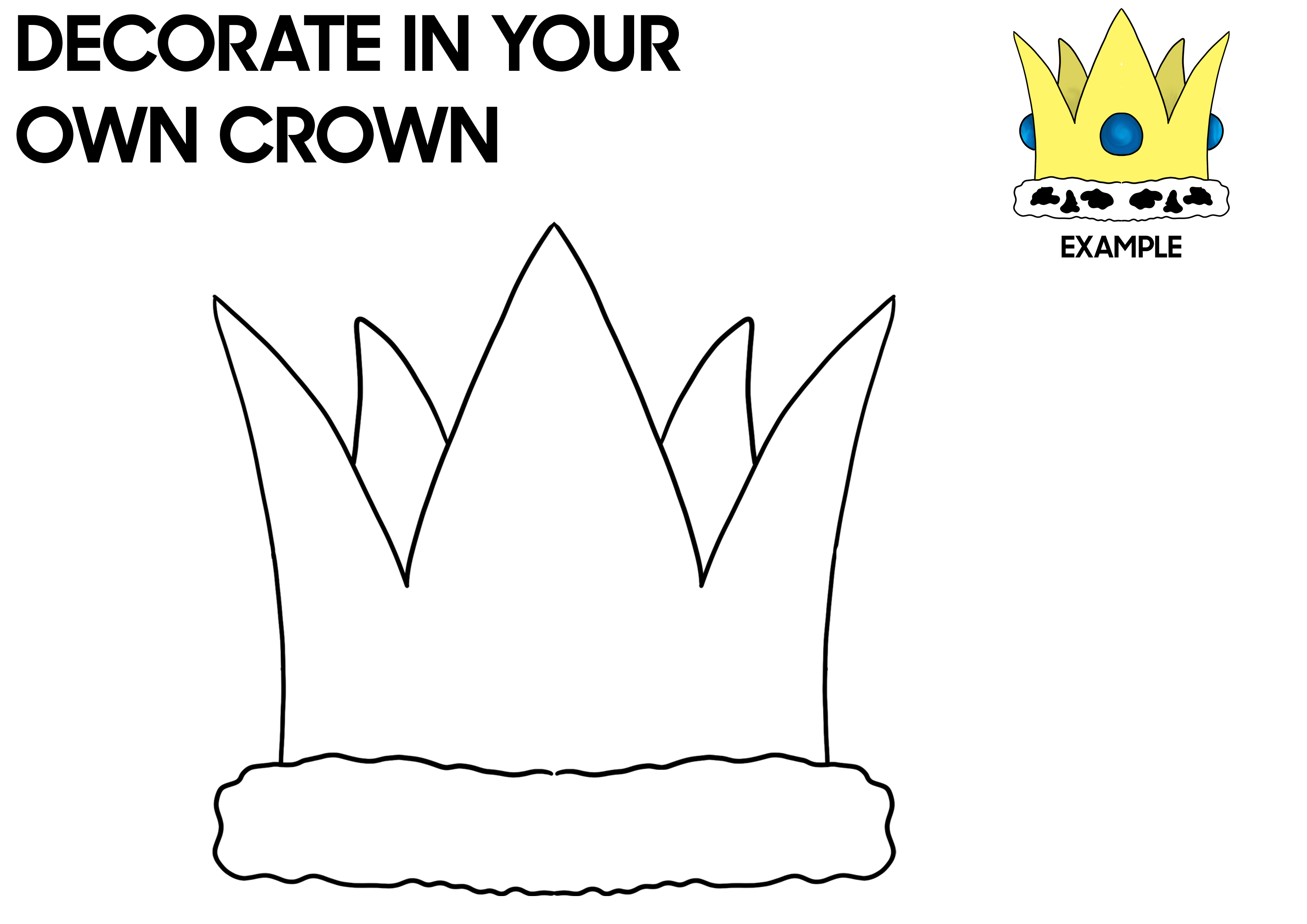 Decorate your own festival crown activity