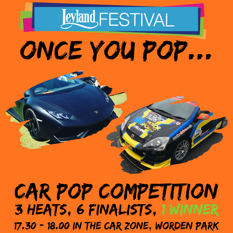 Pop Off Competition at Leyland Festival