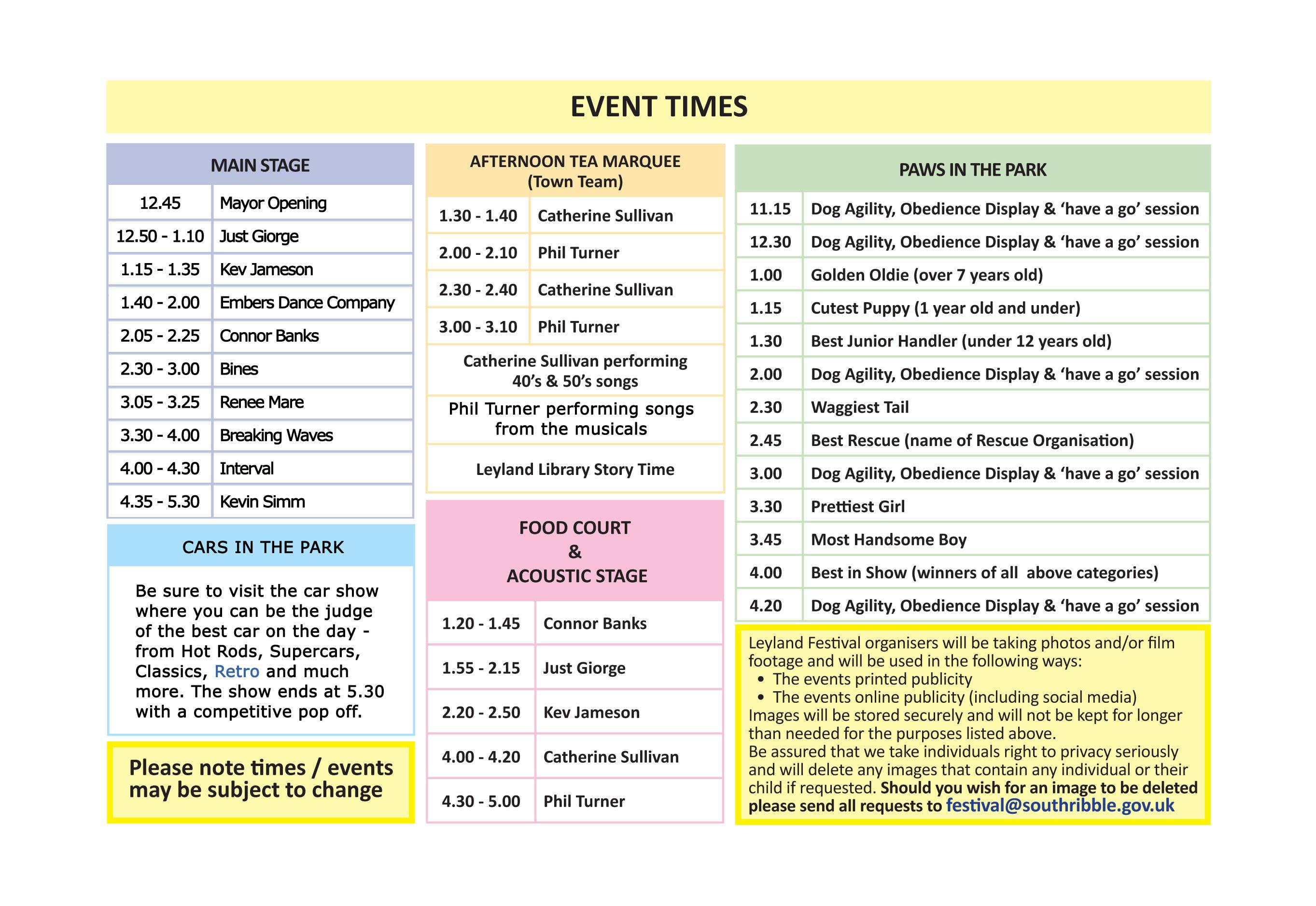 Leyland Festival 2019 Programme 2019